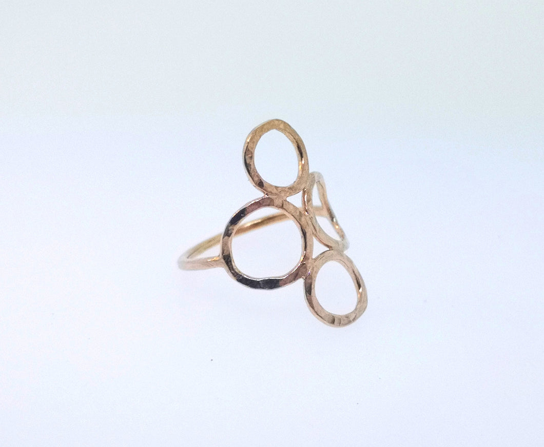 4 Circle Ring - Rose Gold Plated