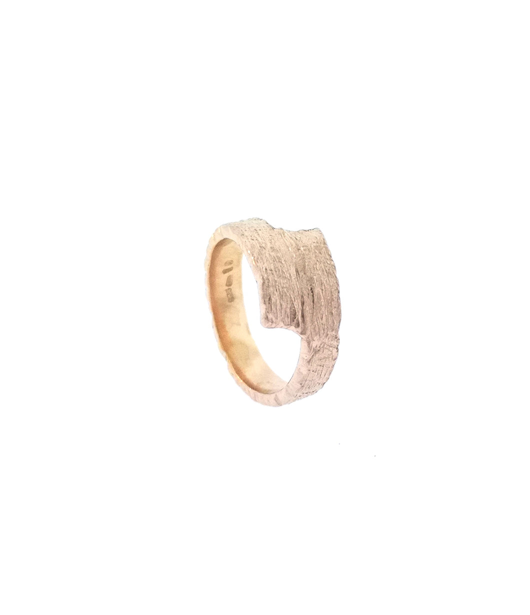 Driftwood Wrap Over Ring - Rose Gold Plated