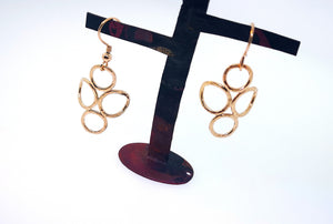 4 Circle Earrings - Rose Gold Plated