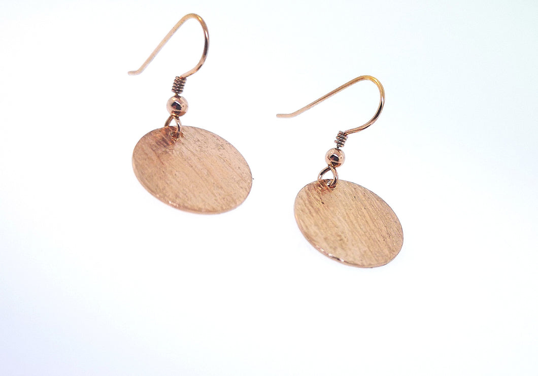 Ripple Disc Earrings - Rose Gold Plated