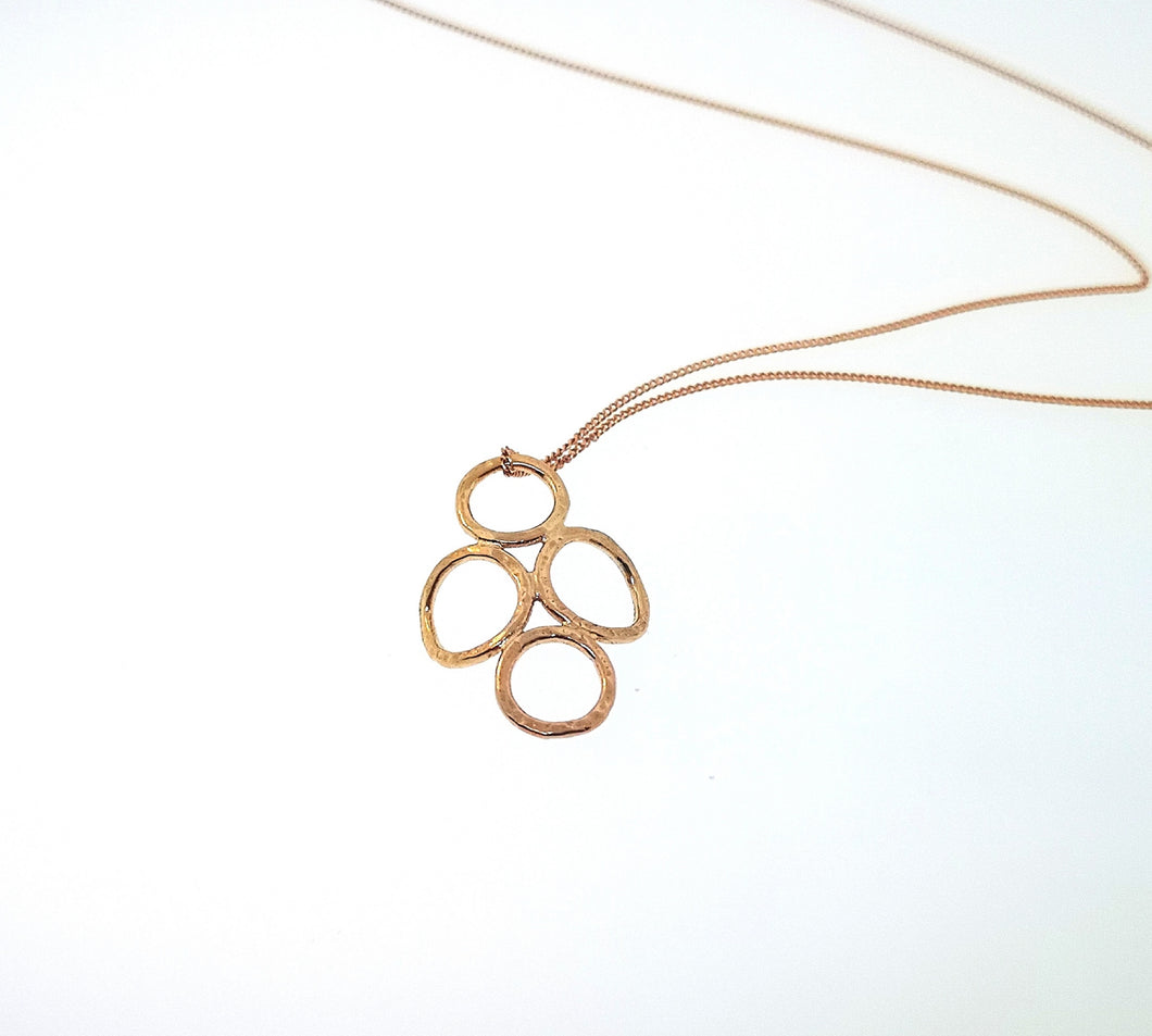 4 Circle Pendant - Rose Gold Plated