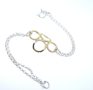 4 Circle Bracelet - Yellow Gold Plated
