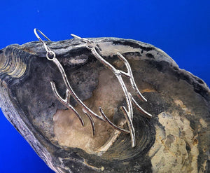 Driftwood Beach Earrings - Sterling Silver