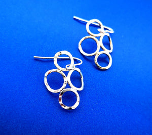 4 Circle Earrings - Sterling Silver