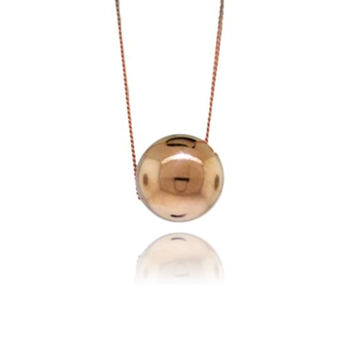 JewelArt Sphere Pendant Mirror Finish - Rose Gold Plated