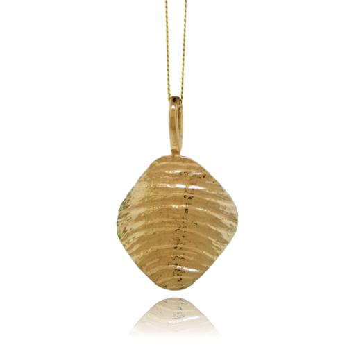 Ripple Arc Pendant - 9 Karat Yellow Gold