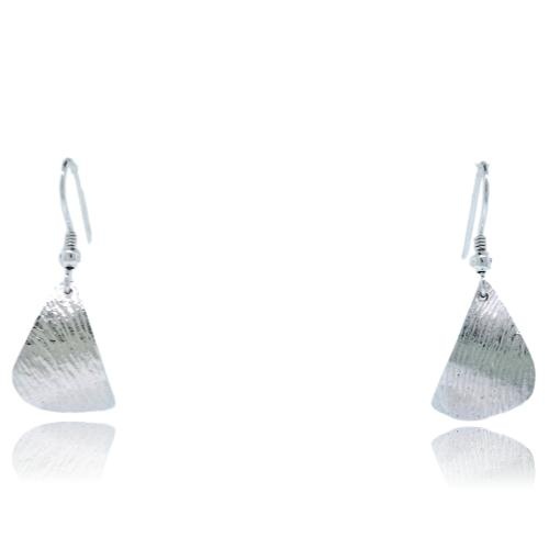Ripple Curved Earrings - Sterling Silver