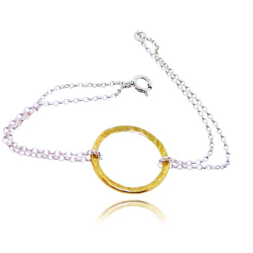 Full Circle Bracelet - Yellow Gold Plated