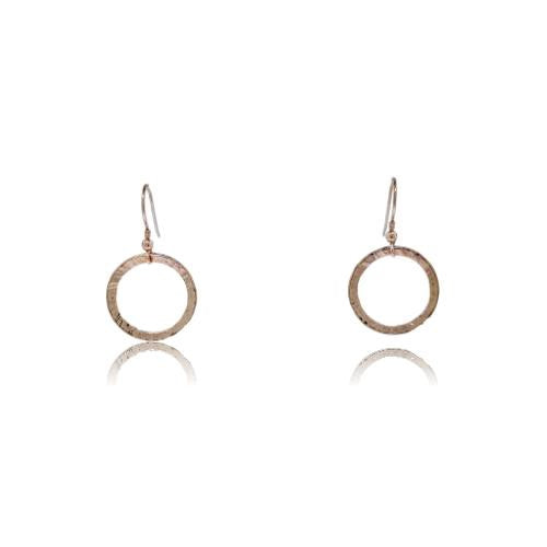 Full Circle Earrings - Rose Gold Plated