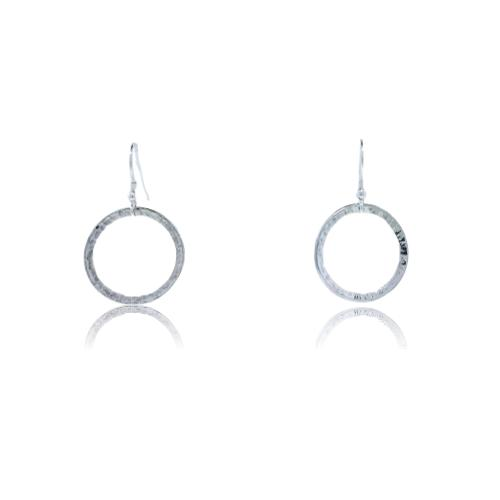 Full Circle Earrings - 9 Karat White Gold