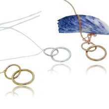 Load image into Gallery viewer, JewelArt Double loop Pendant - Sterling Silver