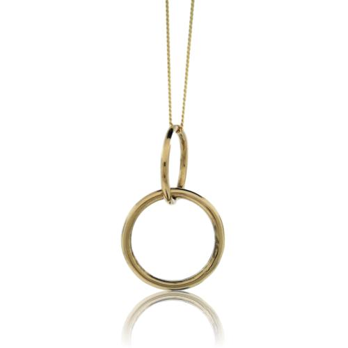 JewelArt Double loop Pendant - 9 Karat Yellow Gold