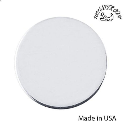 Sterling Silver Round Disc / Stamping, 24-26 Ga, Different sizes, Made in USA