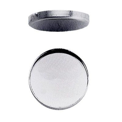 Sterling Silver Round Plain Bezel Cup Setting Assortment 50-pieces