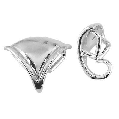Sterling Silver Triangular Pendant Bail with Ring