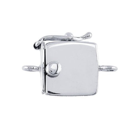 Sterling Silver Box Clasp with Safety Catch