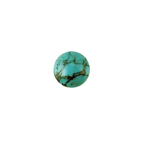 Titanium Hypoallergenic Stud Earrings with Natural Stones 6 mm Turquoise