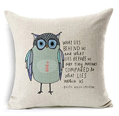 Cushion Pillowcase Owl
