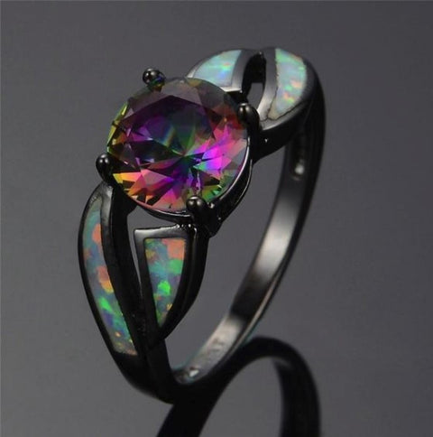 Fire Opal Ring - Free Shipping