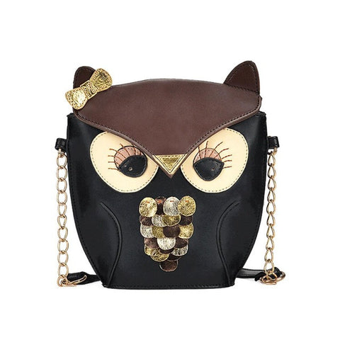 Leather Handbags Cartoon  Owl
