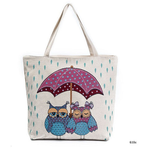 Owl Shopping Bag Lady Casual