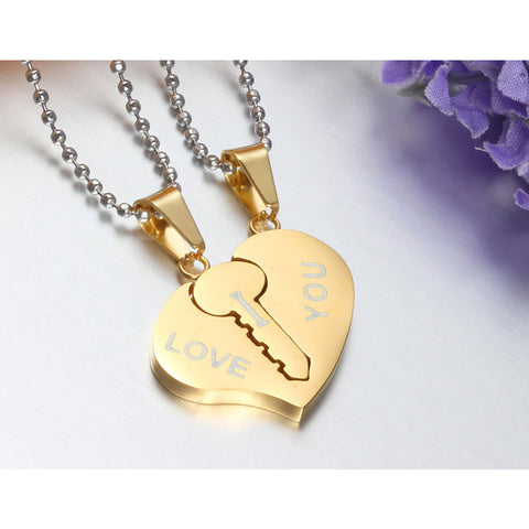 Key and Heart Necklace