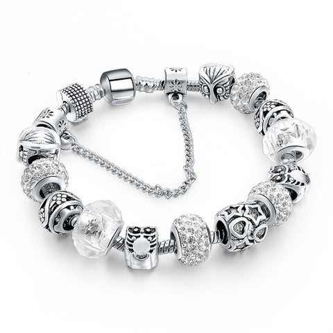 Silver Plated Handmade Charm Bracelets For Women