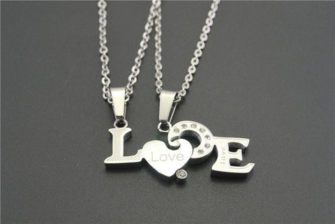 LOVE Couples Necklace