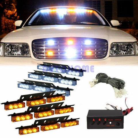 Amber White LED  Strobe Lights