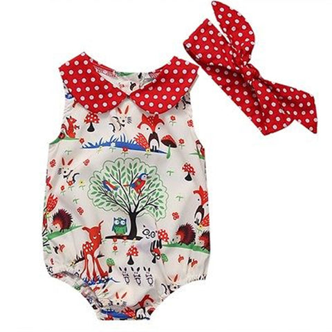 Girl Cotton Romper Cute Cartoon Lovely