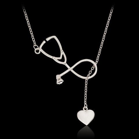 Stethoscope Heart Pendant Doctor Nurse