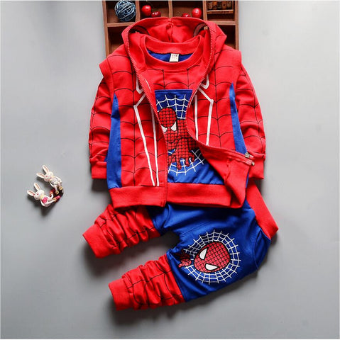 3Pcs  Baby Boys Spider Man Clothes Sets