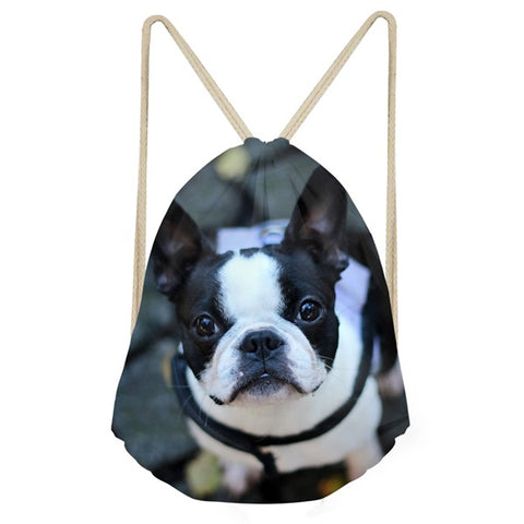 Boston Terrier Drawstrings Bags