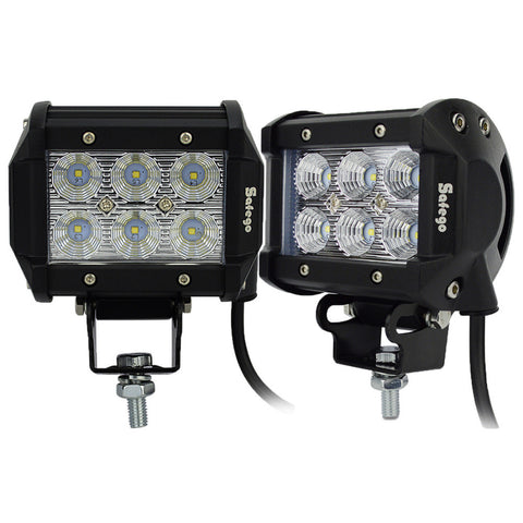 Led Light Bar 18w Work Lamp Spot Flood light Truck Trailer