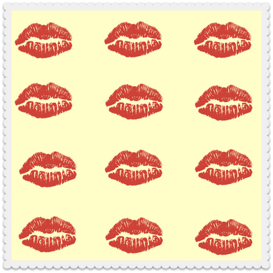 Lips on Yellow (set of 10)