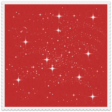 Sparkling Stars on Red (set of 10)