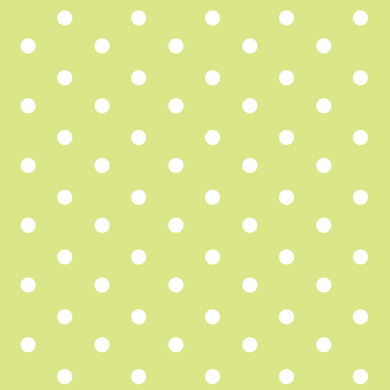 Lime & White Polka Dots