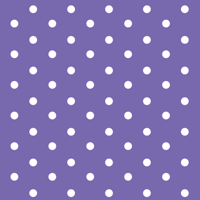 Purple & White Polka Dots