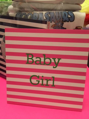 Baby Girl on Pink and White Stripe (set of 10)