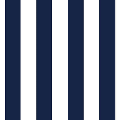 Navy and White Satin Stripes (set of 10)
