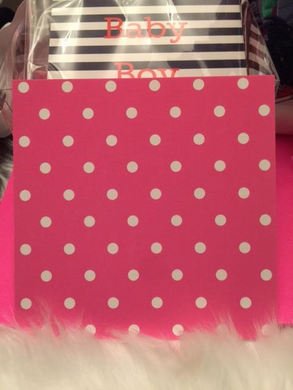 Pink and White Polka Dots (set of 10)