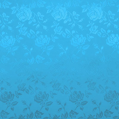 Turquoise Satin Jacquard (set of 10)