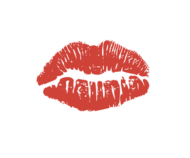 White and Red Kiss (set of 10)