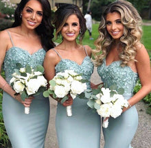 Mermaid Bridesmaid Dress with 3D Flowers