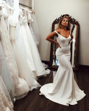 Simple Mermaid Wedding Dresses Long Off the Shoulder
