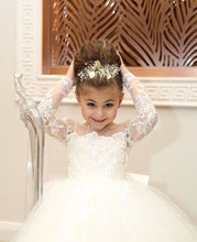 Lovely Long Ball Gown Flower Girl Dresses with Bow