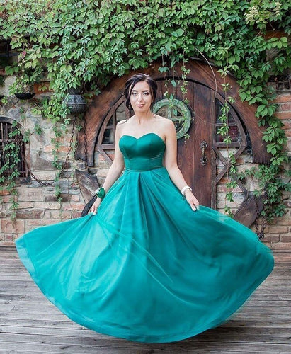 Strapless Long Bridesmaid Dresses for Weddings