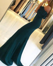 Long Chiffon Mermaid Evening Dresses Slit Off Shoulder Formal Gowns