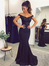 Off the Shoulder Mermaid Bridesmaid Dresses Long 2018