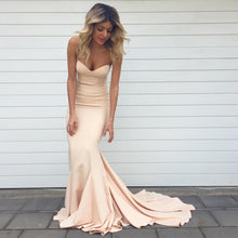 Simple Sweetheart Satin Mermaid Bridesmaid Dresses Long
